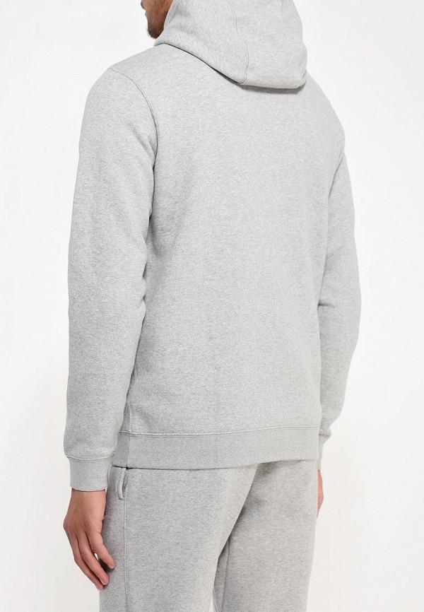 Фото 3 - мужскую толстовку Nike серого цвета