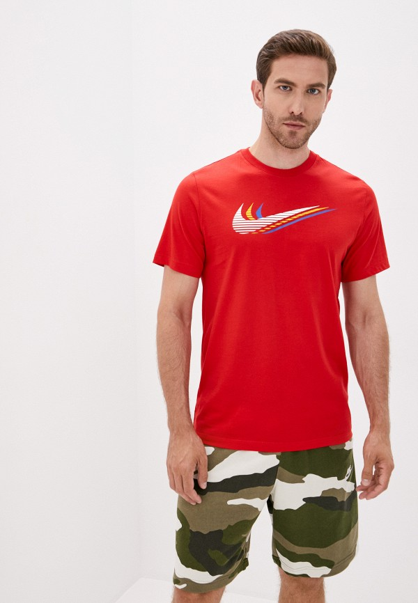 мужская спортивные футболка nike, красная