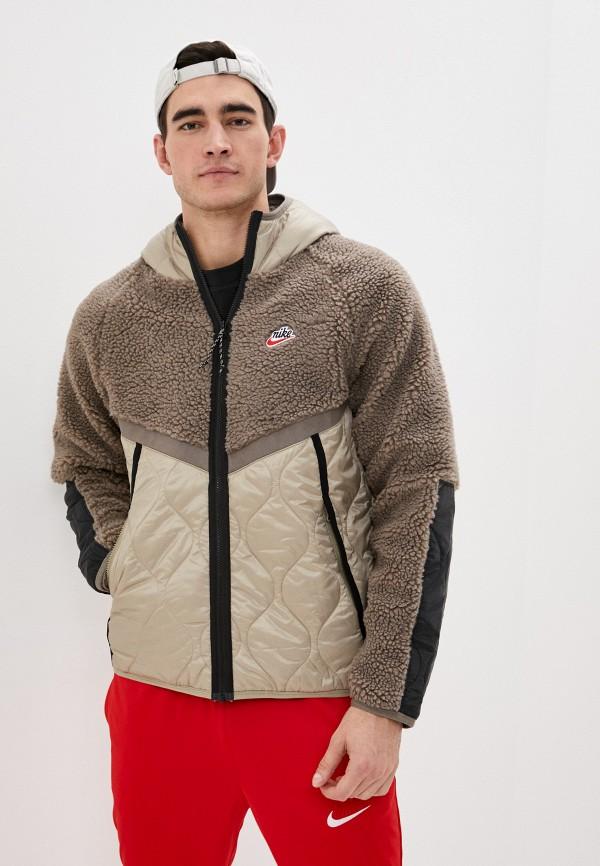 мужская куртка nike, бежевая