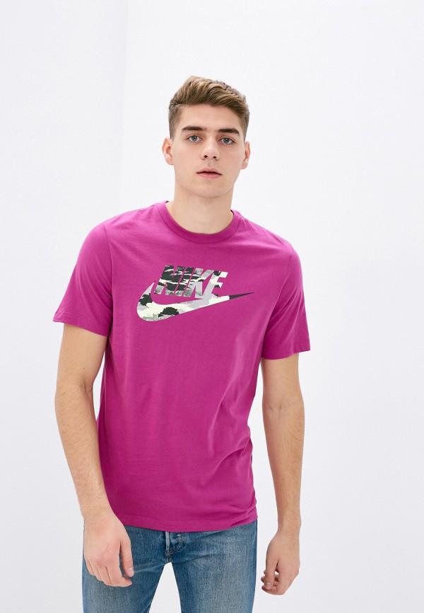 мужская спортивные футболка nike, фиолетовая