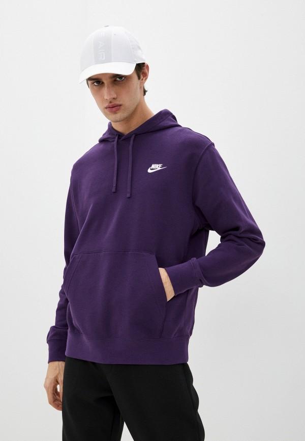 мужские худи nike, фиолетовые