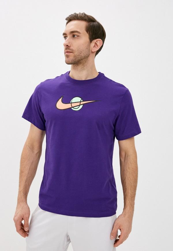 мужская футболка с коротким рукавом nike, фиолетовая
