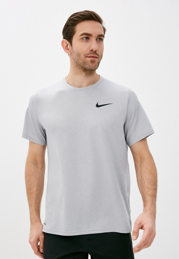 мужская футболка с коротким рукавом nike, серая