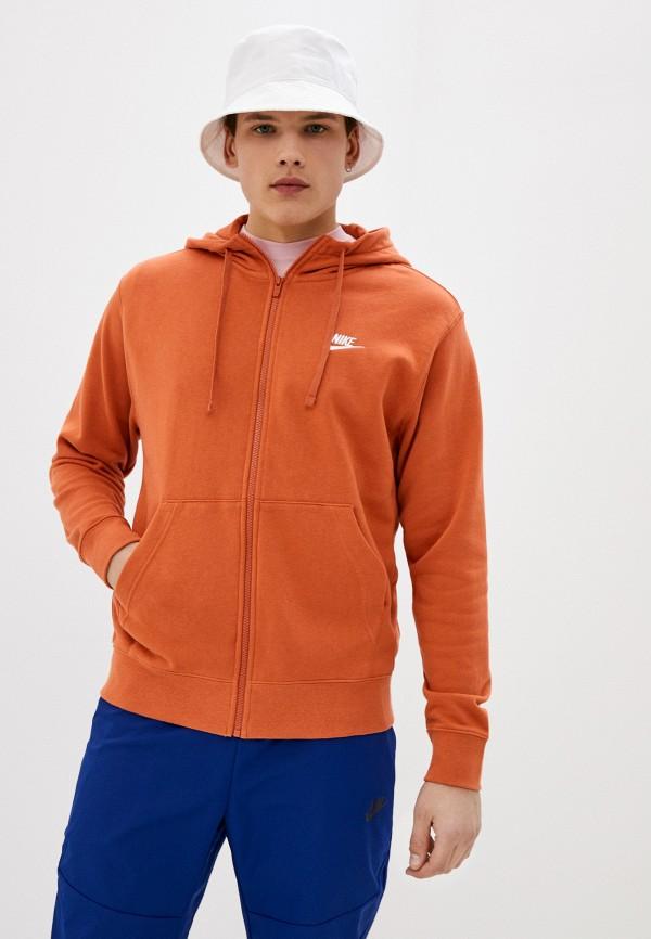 мужская толстовка nike, оранжевая