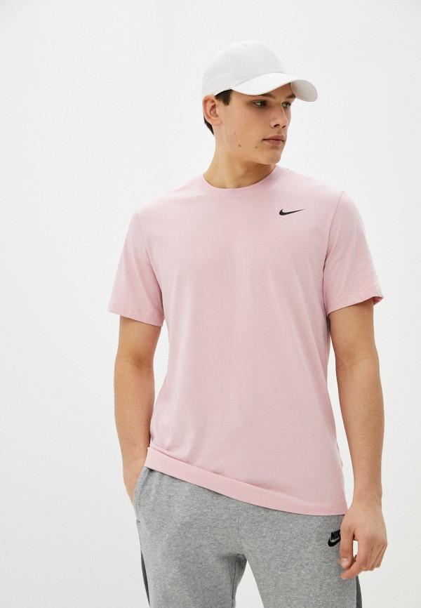 мужская спортивные футболка nike, розовая