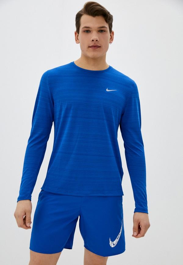 мужской лонгслив nike, синий