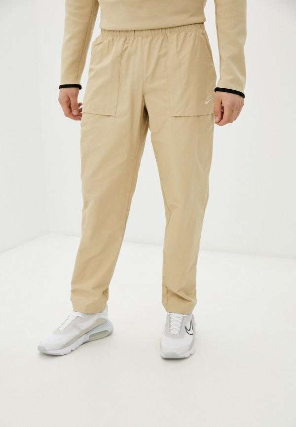 мужские брюки джоггеры nike, бежевые