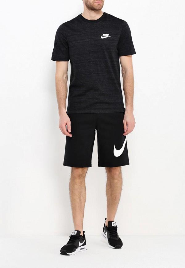 Фото 2 - Шорты спортивные Nike черного цвета