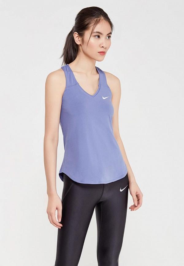 Купить Майка спортивная Nike, W NKCT TANK PURE, NI464EWAADP8, синий, Весна-лето 2018
