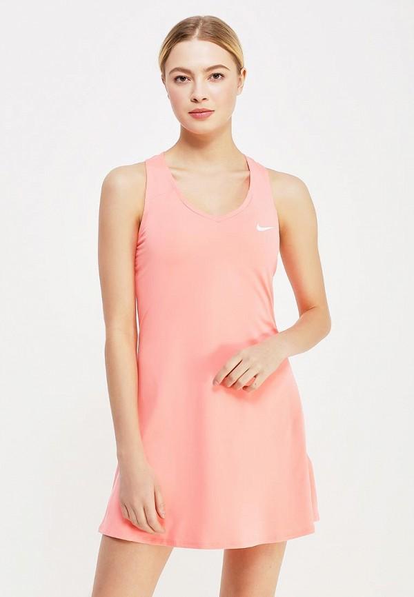 Купить Платье Nike, W NKCT PURE DRSS, NI464EWAADW0, коралловый, Весна-лето 2018