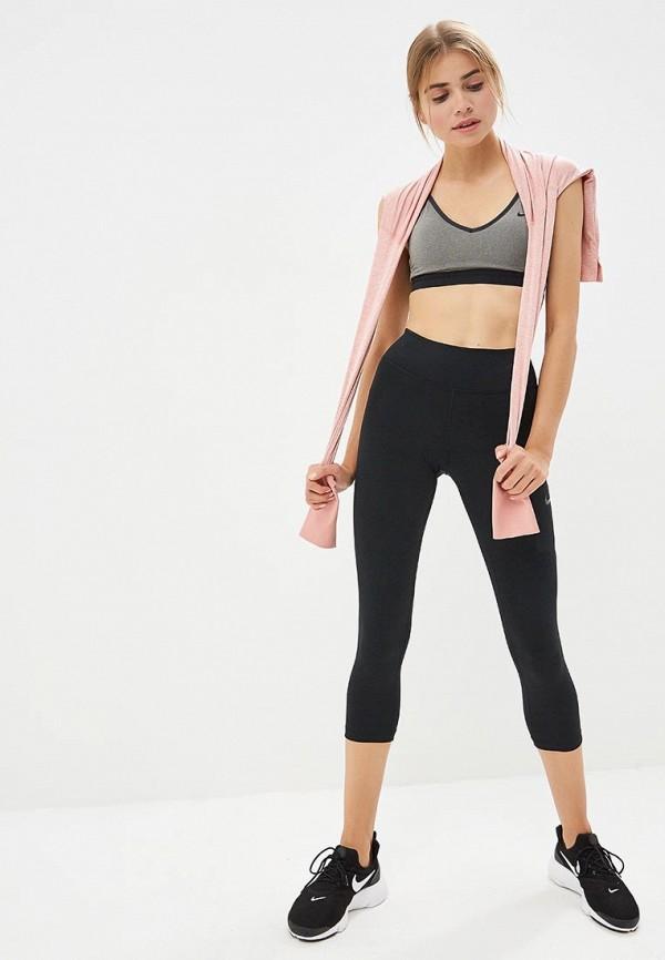 Фото 2 - Топ спортивный Nike серого цвета