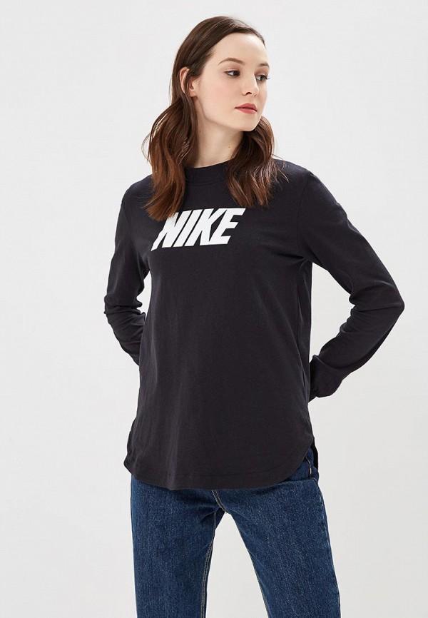 Лонгслив Nike, W NSW AV15 TOP LS, NI464EWAADX4, черный, Весна-лето 2018  - купить со скидкой