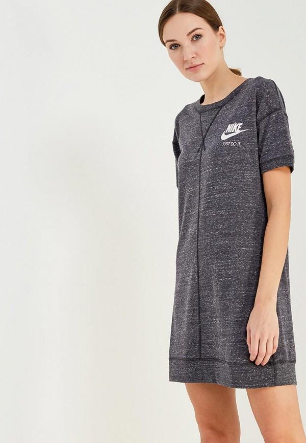 Фото - женское платье Nike серого цвета