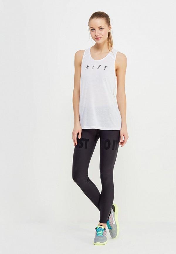 Фото 2 - Майку спортивная Nike белого цвета