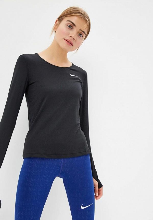 Фото 4 - Лонгслив спортивный Nike черного цвета
