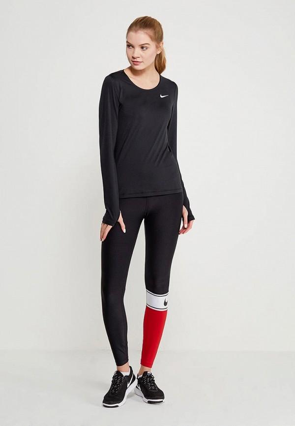 Фото 2 - Лонгслив спортивный Nike черного цвета