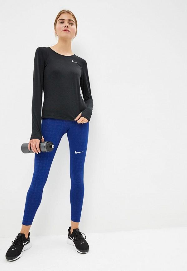 Фото 5 - Лонгслив спортивный Nike черного цвета