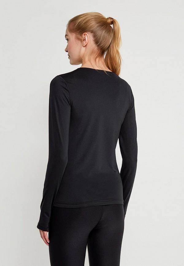 Фото 3 - Лонгслив спортивный Nike черного цвета