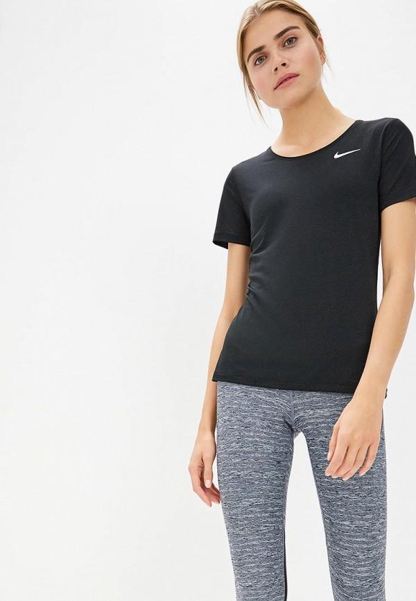 Фото 4 - Футболку спортивная Nike черного цвета