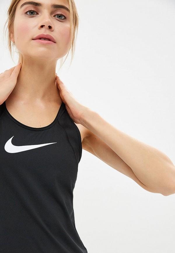 Фото 7 - Майку спортивная Nike черного цвета