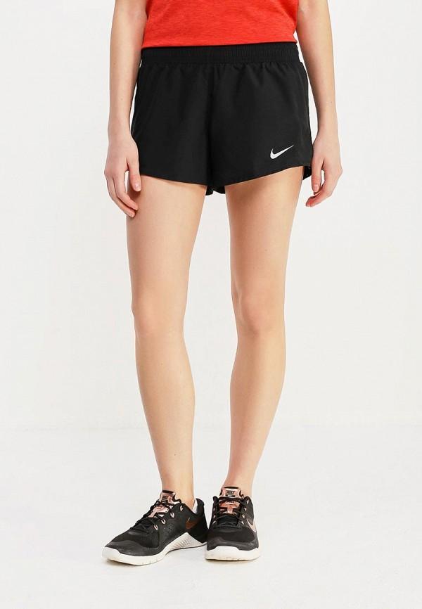 женские спортивные спортивные шорты nike, черные