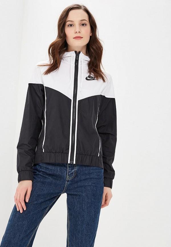 Купить Ветровка Nike, Women's Nike Sportswear Windrunner Jacket, ni464ewaahb0, черный, Осень-зима 2018/2019