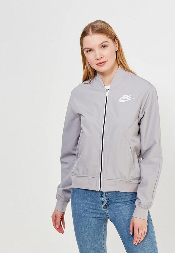 Купить Куртка Nike, W NSW AV15 JKT WVN, NI464EWAAHB8, серый, Весна-лето 2018
