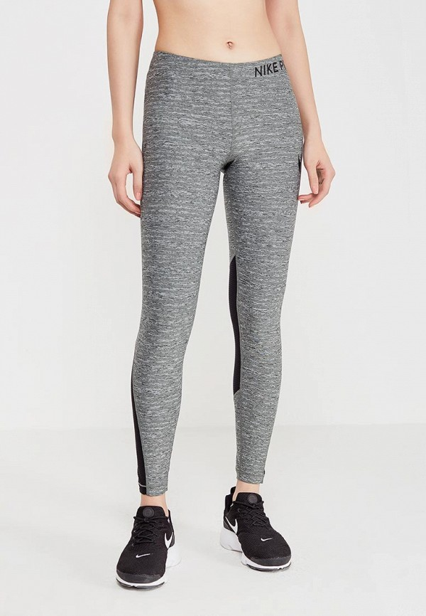 Купить Тайтсы Nike, W NP TGHT HEATHER, ni464ewaahe1, хаки, Весна-лето 2018