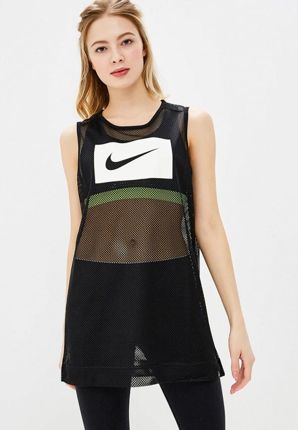 Купить Майка Nike, W NSW TANK SWSH MSH, NI464EWBBKT2, черный, Весна-лето 2018