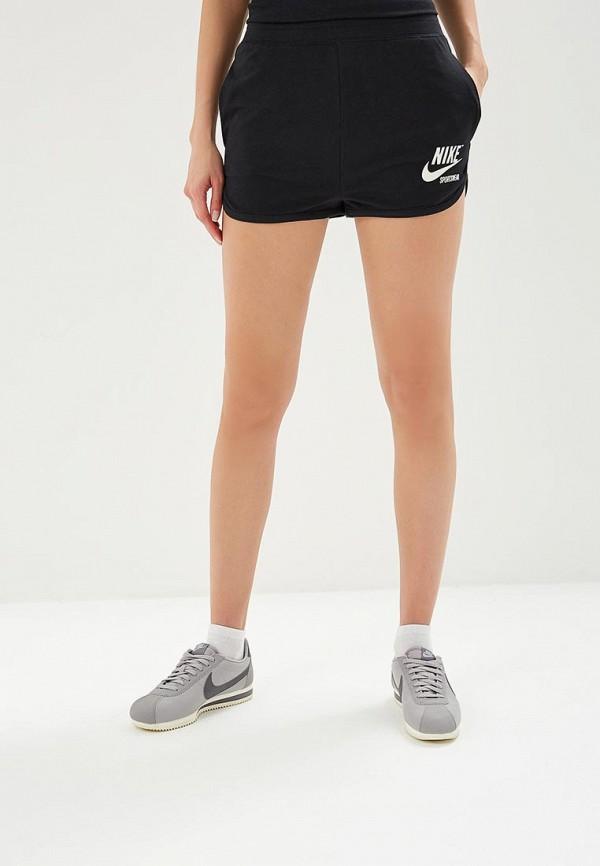 Купить Шорты спортивные Nike, W NSW SHORT HW ARCHIVE, NI464EWBBKU2, черный, Весна-лето 2018