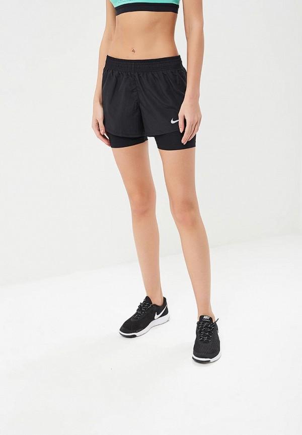 Купить Шорты спортивные Nike, Women's Nike 10k 2-in-1 Running Shorts, ni464ewbbkw3, черный, Осень-зима 2018/2019