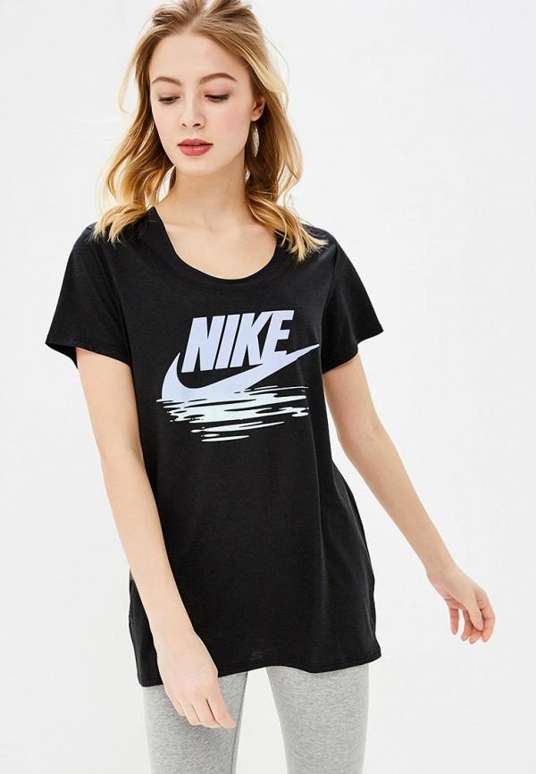Купить Футболка Nike, W NSW TEE TB BF NIKE SUNSET, ni464ewbbkx1, черный, Весна-лето 2018