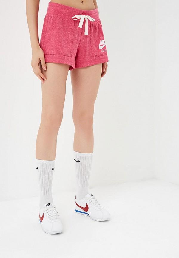 Купить Шорты спортивные Nike, W NSW GYM VNTG SHORT, NI464EWBWIZ1, розовый, Осень-зима 2018/2019