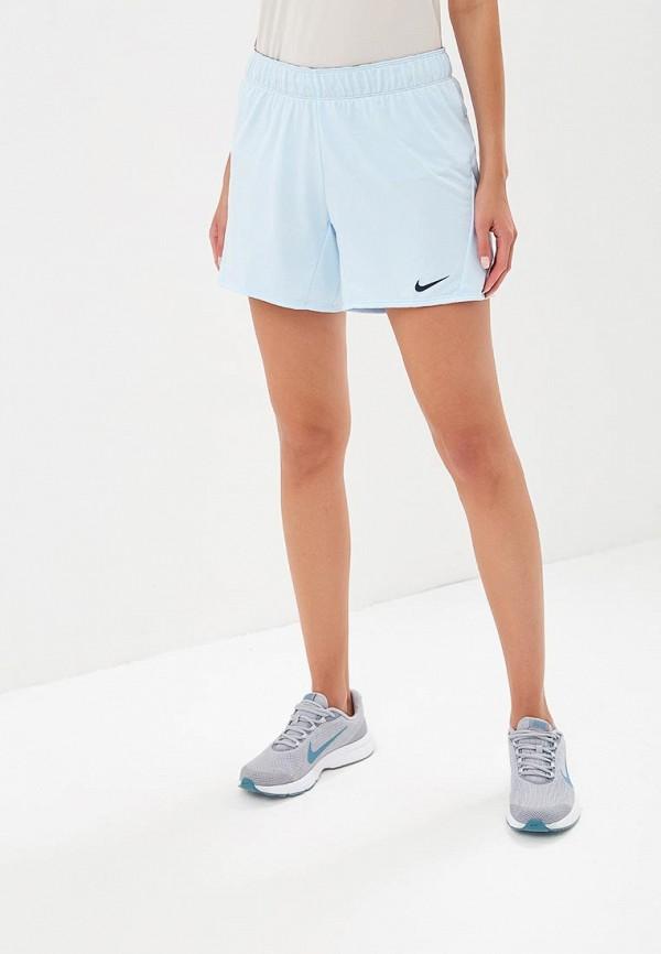 Купить Шорты спортивные Nike, Women's Nike Dry Training Shorts, ni464ewbwjb4, голубой, Осень-зима 2018/2019