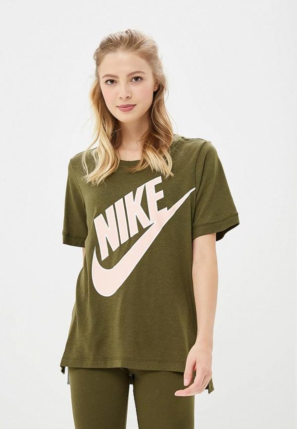 Купить Футболка Nike, Nike Sportswear Women's Short-Sleeve Top, ni464ewbwjm0, хаки, Осень-зима 2018/2019