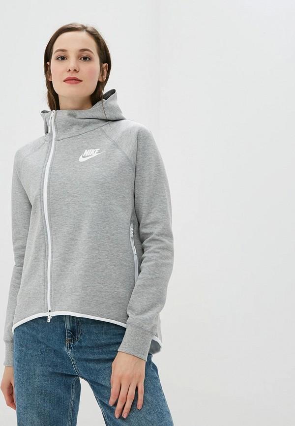 Купить Толстовка Nike, Nike Sportswear Tech Fleece Women's Full-Zip Cape, ni464ewbwjo9, серый, Осень-зима 2018/2019
