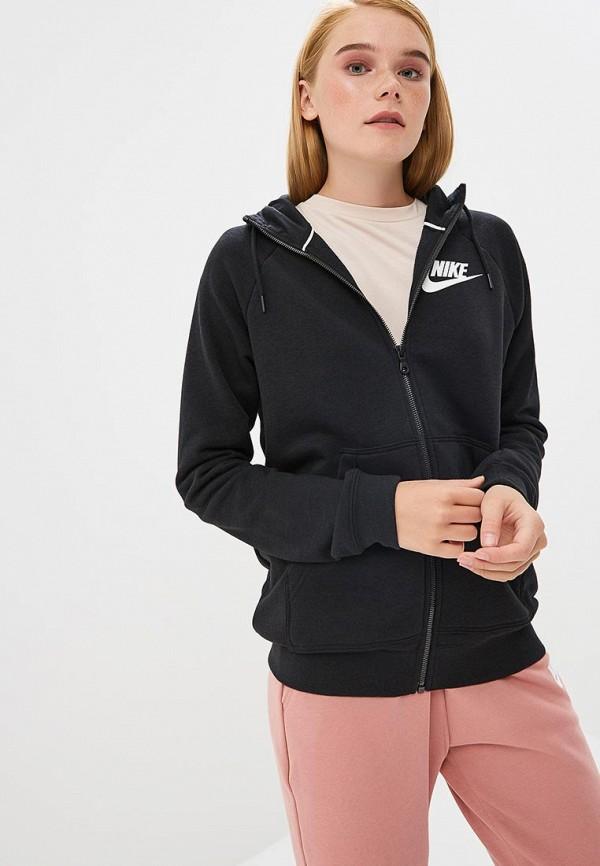Купить Толстовка Nike, Nike Sportswear Rally Women's Full-Zip Hoodie, ni464ewbwjq2, черный, Весна-лето 2019