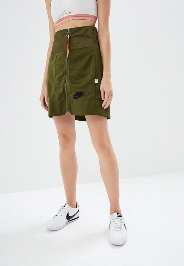 Купить Юбка Nike, Nike Sportswear NSW Women's Skirt, ni464ewbwjt9, хаки, Осень-зима 2018/2019