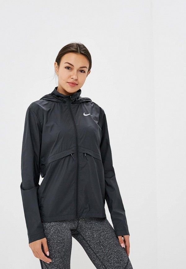 Купить Ветровка Nike, Nike Essential Women's Hooded Running Jacket, ni464ewbwjx2, черный, Осень-зима 2018/2019
