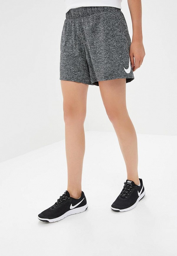 Купить Шорты спортивные Nike, Nike Dry Swoosh Women's 5 Training Shorts, ni464ewbwjx9, серый, Осень-зима 2018/2019
