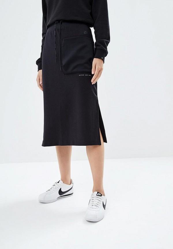 Купить Юбка Nike, W NSW TCH PCK SKIRT, NI464EWBWJZ7, черный, Осень-зима 2018/2019