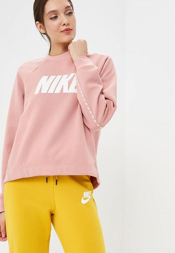 Купить Свитшот Nike, Nike Sportswear Women's Crew, ni464ewbwka0, розовый, Осень-зима 2018/2019
