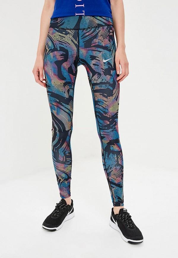 Купить Тайтсы Nike, W NK PWR ESSNTL TIGHT PR, NI464EWBWLT0, разноцветный, Осень-зима 2018/2019