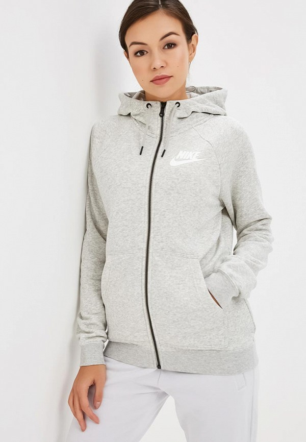 Купить Толстовка Nike, W NSW RALLY HOODIE FZ, ni464ewcmlc6, серый, Осень-зима 2018/2019