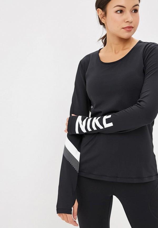 Купить Лонгслив спортивный Nike, W NP WM TOP LS STRIPE GRX, NI464EWCMLF1, черный, Осень-зима 2018/2019