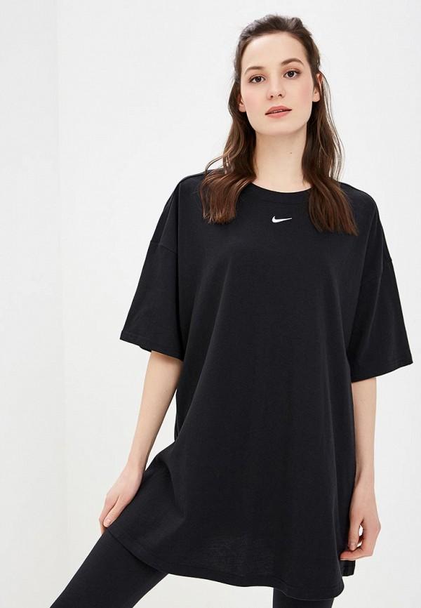 Купить Платье Nike, W NSW ESSNTL DRESS LBR, ni464ewdnfw2, черный, Весна-лето 2019