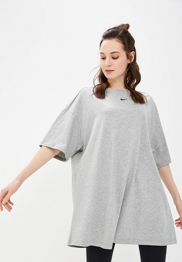 Купить Платье Nike, W NSW ESSNTL DRESS LBR, ni464ewdnfw3, серый, Весна-лето 2019
