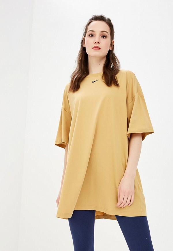 Купить Платье Nike, W NSW ESSNTL DRESS LBR, ni464ewdnfw6, желтый, Весна-лето 2019