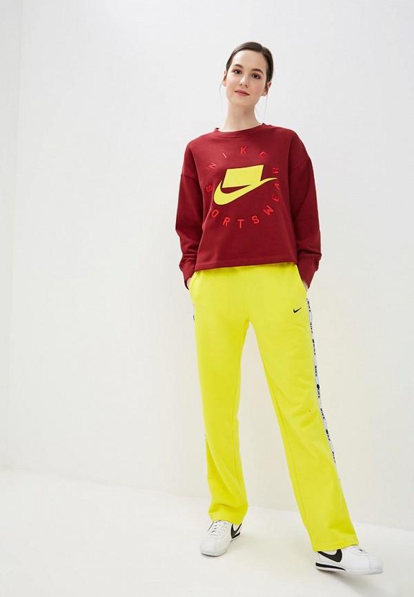 Фото 2 - Свитшот Nike бордового цвета