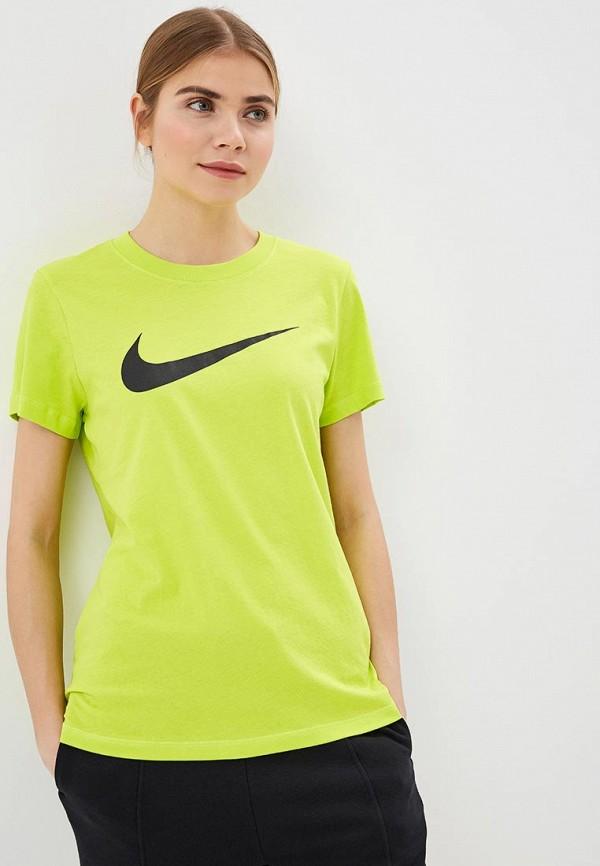Купить Футболка Nike, W NSW TEE SWOOSH, ni464ewdnmv0, зеленый, Весна-лето 2019